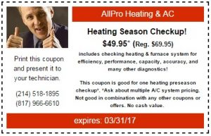 Heating Season Coupon